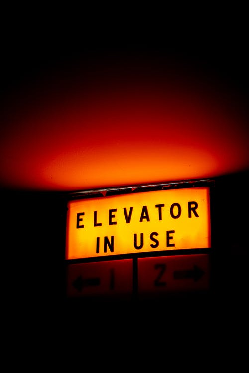 Elevator in Use Lighted Signage
