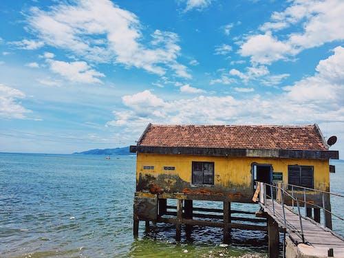 Základová fotografie zdarma na téma doma, moře, obloha, rybáři