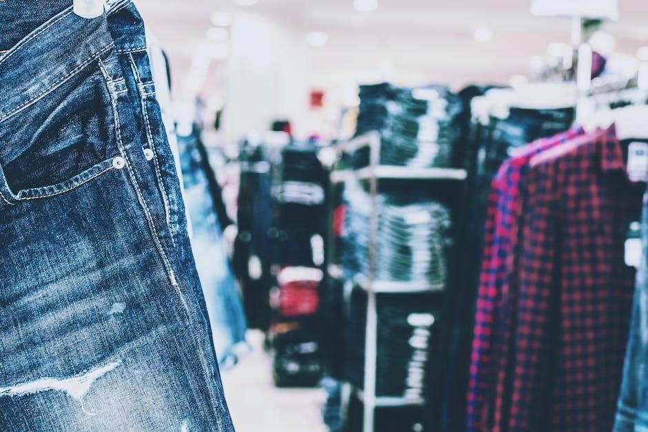 Selective focus photography of blue denim jeans