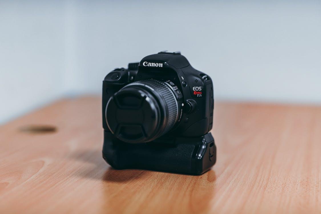 Canon, čierny fotoaparát, fotoaparát