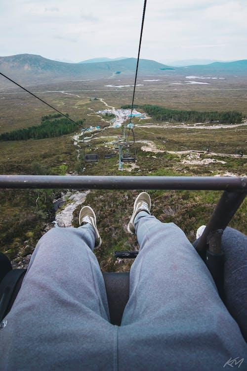 Gratis lagerfoto af bjerg, elevator, fugleperspektiv, høj