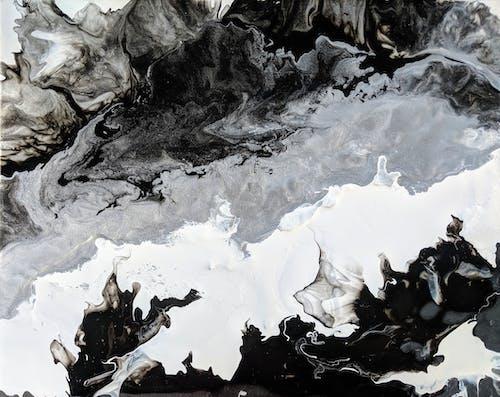 Fotobanka sbezplatnými fotkami na tému abstraktná maľba, abstraktné umenie, chromatické umenie, čierna abiela