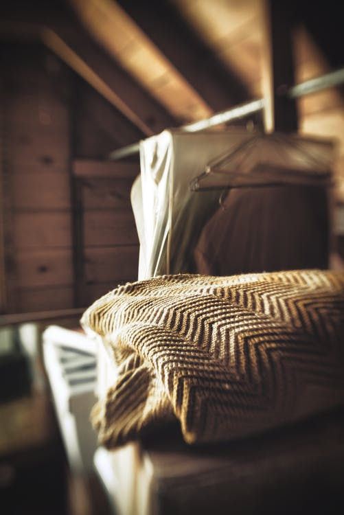 abstract, attic, blanket