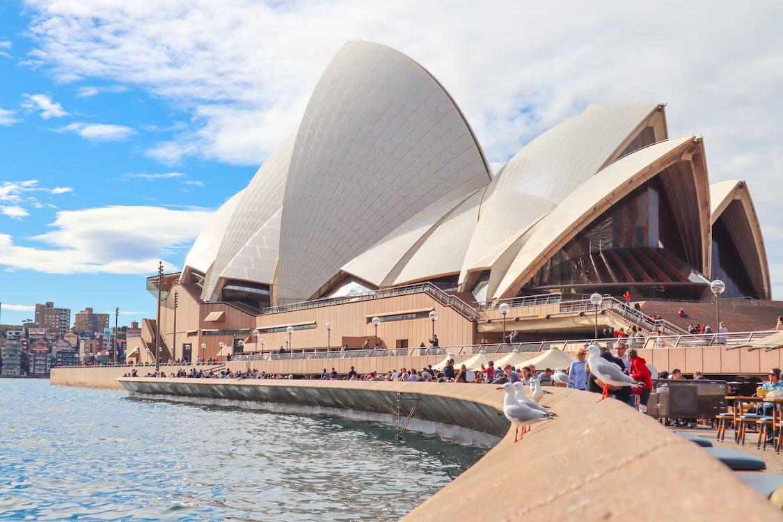 People Gathering Outside Sydney Opera House