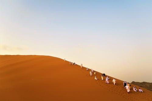 Foto stok gratis berjalan, bukit pasir, di luar rumah, gersang