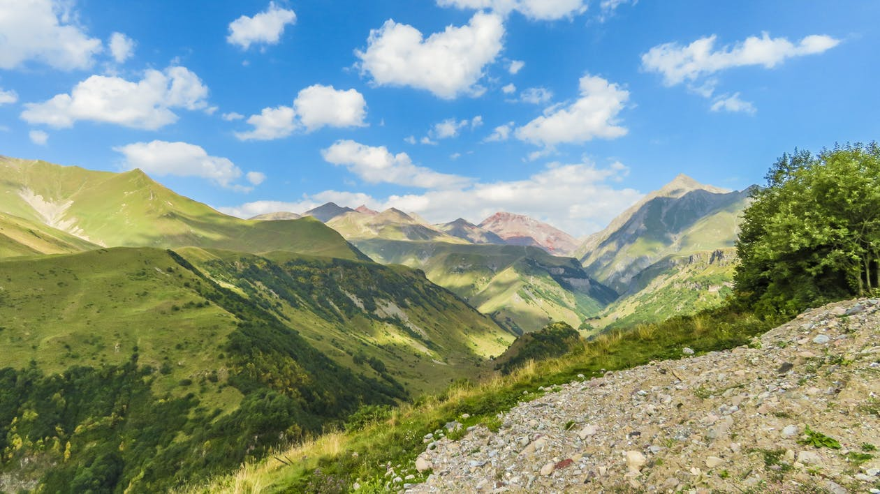 Free stock photo of blue sky, georgia, green