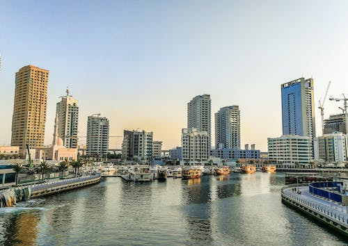 Free stock photo of boats, buildings, dubai