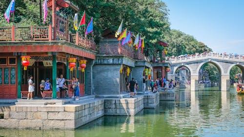 강, 건축, 관광, 관광객의 무료 스톡 사진