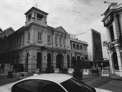 Free stock photo of black and white, penang