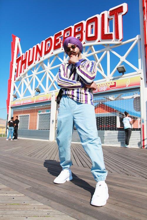 Photo Of Man Wearing Striped Long Sleeves
