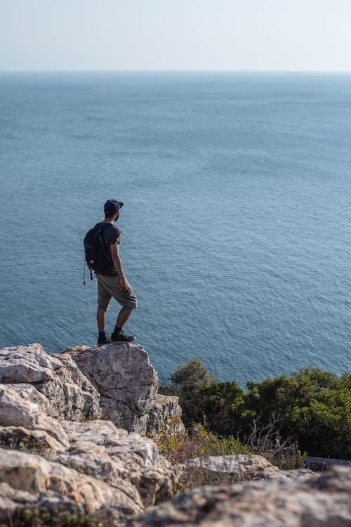 Fotos de stock gratuitas de acantilado, al aire libre, aventura, caminar
