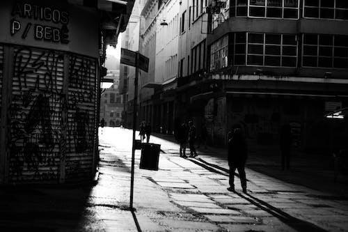 Imagine de stoc gratuită din alb-negru, alee, drum