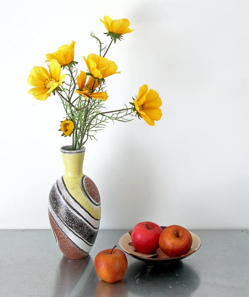 Free stock photo of 1950s, apples, ceramics, decoration