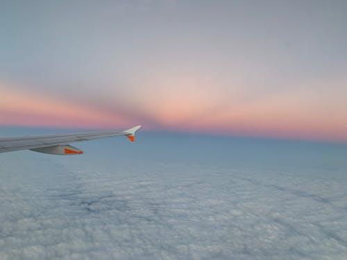 Free stock photo of aeroplane, airplane, airplane wing, beautiful