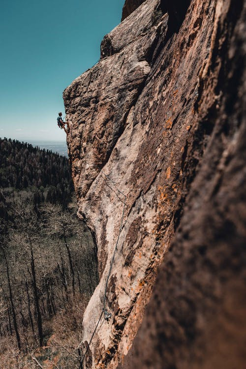 Photo Of Man Rock Climbing