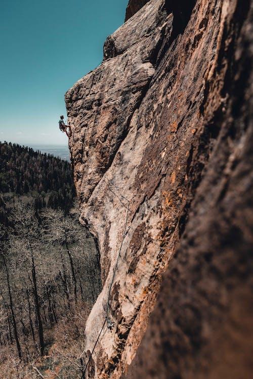 Photo Of Man Rock Climbing
