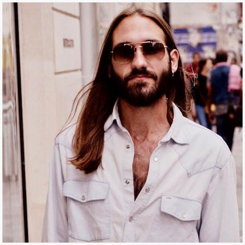 Free stock photo of fashionable, fujifilm, full bearded man, long hair