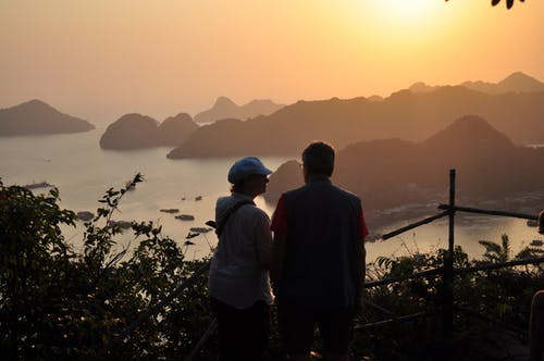 คลังภาพถ่ายฟรี ของ พระอาทิตย์ตกที่สวยงาม, มรดกโลกของยูเนสโก, อ่าวฮาลอง, เวียดนาม