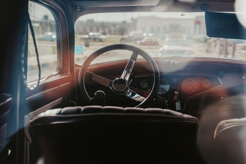 Free stock photo of car interior, colour, vintage car