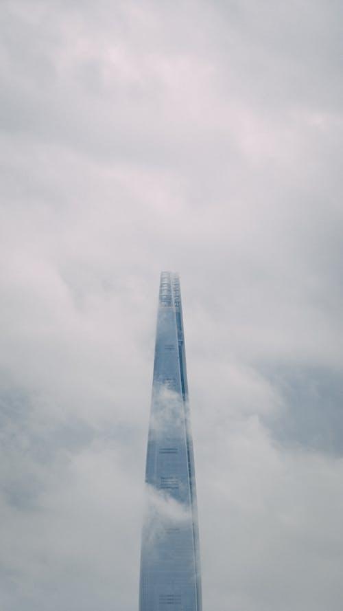 多雲的, 朝鮮的, 樂天塔, 韓國 的 免費圖庫相片