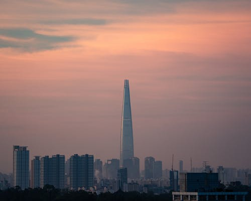 cityscap, 朝鮮的, 樂天塔, 韓國 的 免費圖庫相片