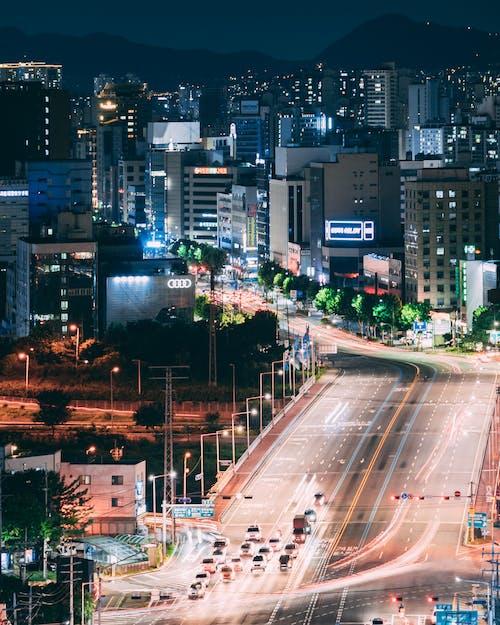 Ảnh lưu trữ miễn phí về ánh đèn thành phố, bầu trời, bóng, các tòa nhà