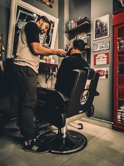 Immagine gratuita di barba, barbiere, capelli, interni