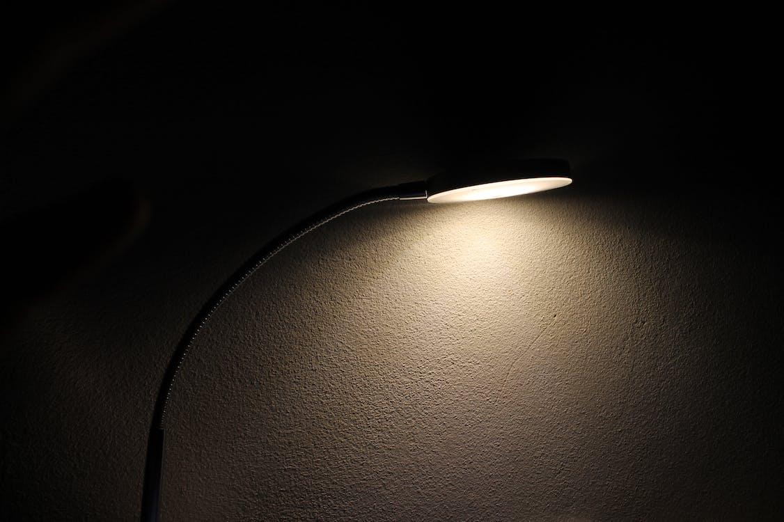 lampa, lehký, noc