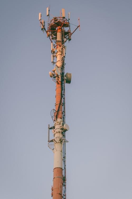 低角度拍攝, 信號, 塔, 天空 的 免費圖庫相片