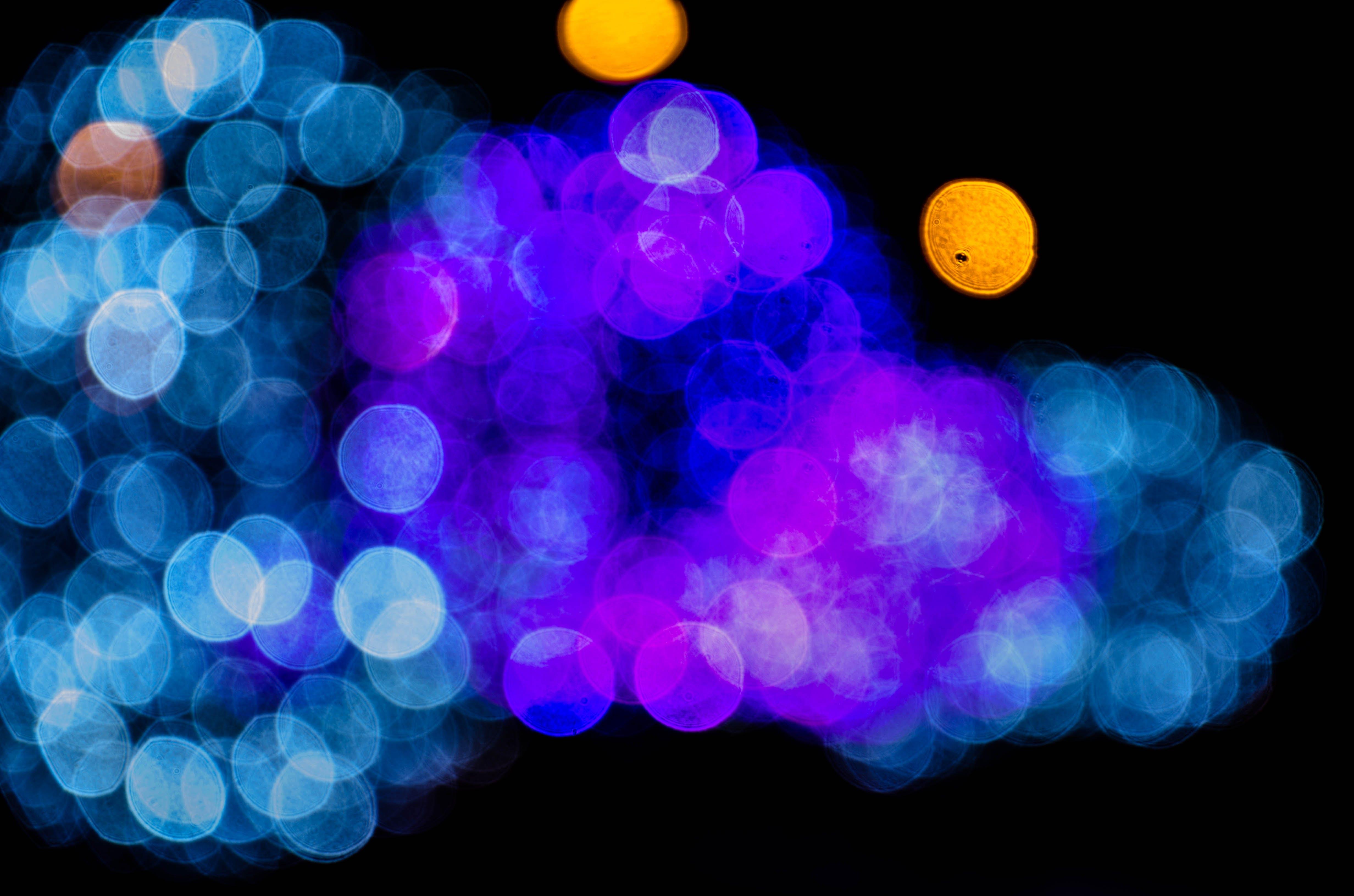 blurred, bokeh, illuminated