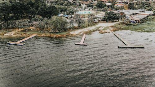 Photos gratuites de aérien, architecture, bâtiments, bord de mer