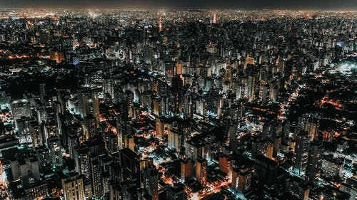 Photo of Cityscape at Night Time