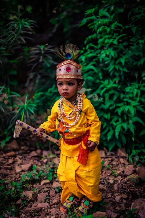 4k 바탕화면, krishna photoshoot, 다채로운 벽, 아이들의의 무료 스톡 사진