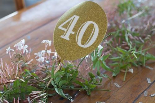 40, 40岁生日, 金 的 免费素材照片