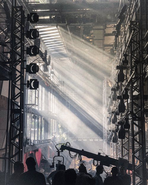 People Near Stage Lights