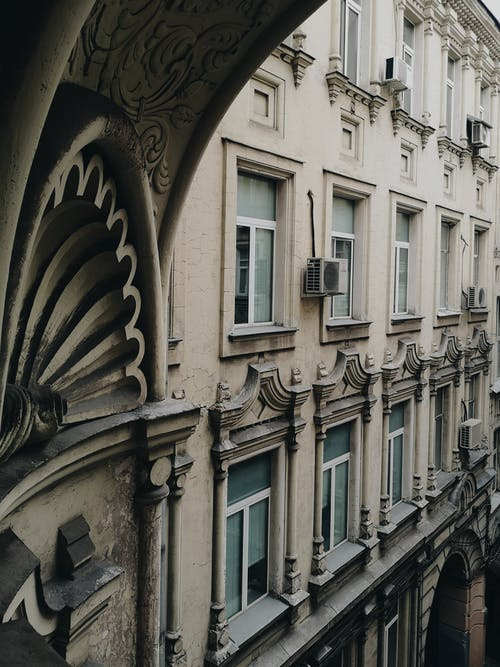 bina, camlar, mimari içeren Ücretsiz stok fotoğraf
