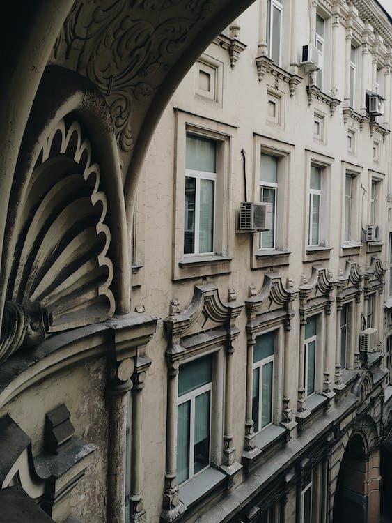 bina, camlar, mimari