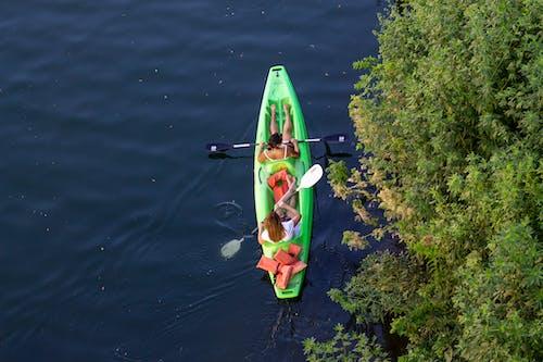 Free stock photo of activity, boat, couple, explore