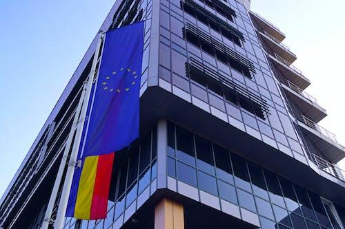 Základová fotografie zdarma na téma evropa, evropská unie, evropská vlajka, firma