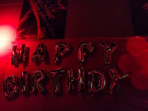 Gratis stockfoto met ballonnen, brieven, fijne verjaardag, gefeliciteerd