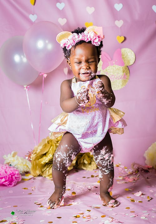 Free stock photo of 1year, baby, birthday, cake