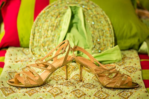 Free stock photo of african, cultural, green, shoes