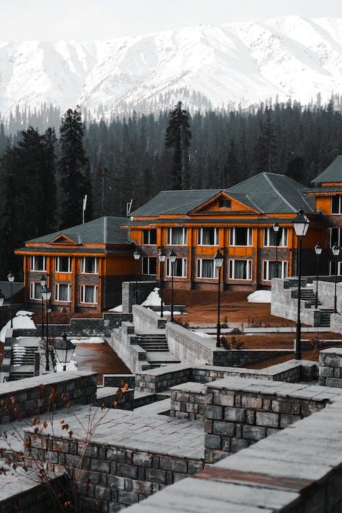 Orange and Gray House Across White Mountain