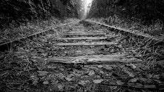 black-and-white, railroad, railway