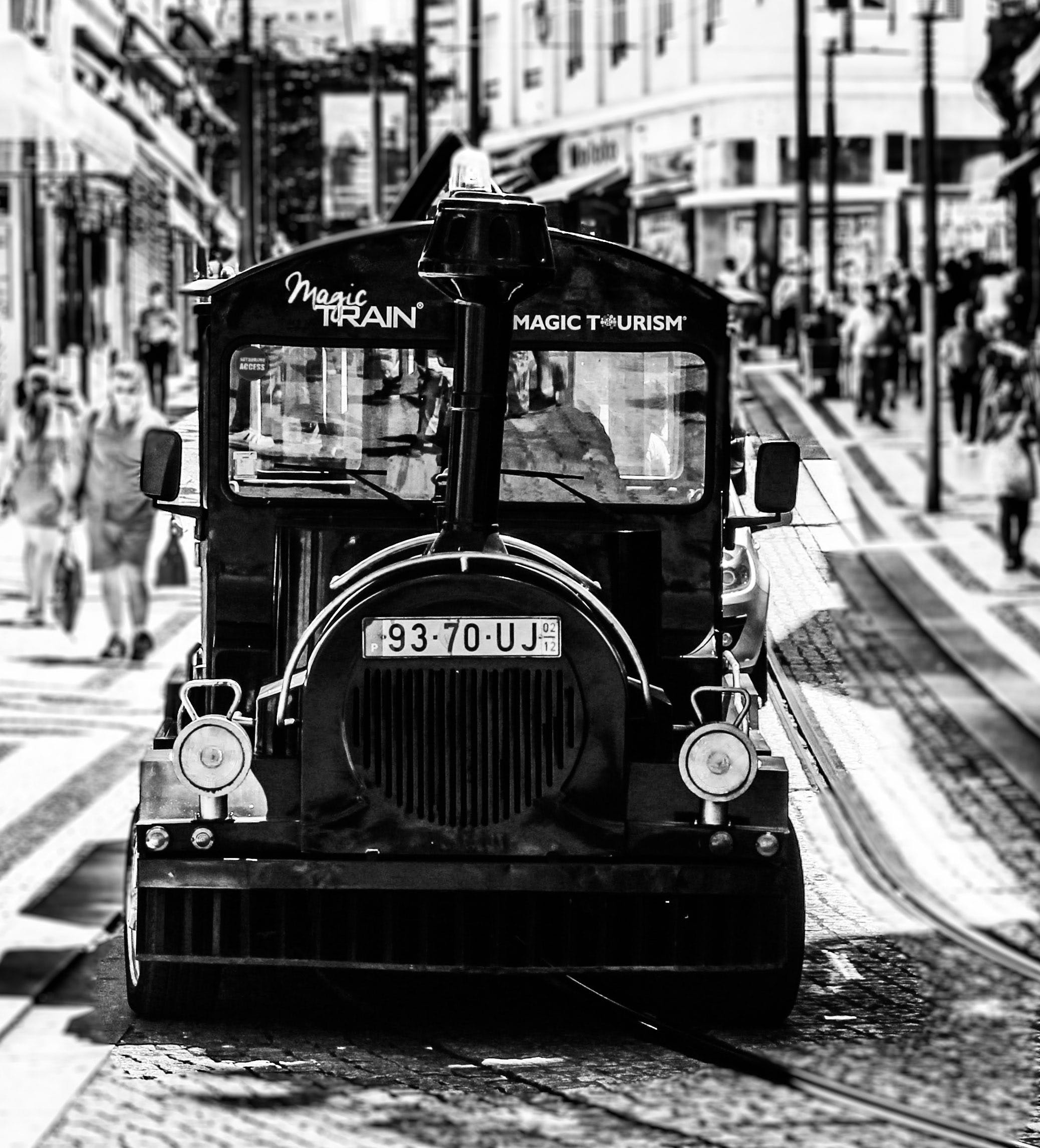 Free stock photo of monochrome, public transport, train, transport