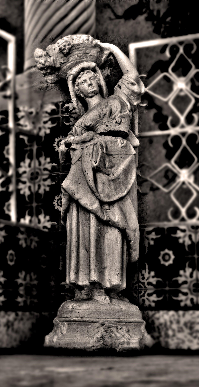 Free stock photo of ceramic, monochrome, statue