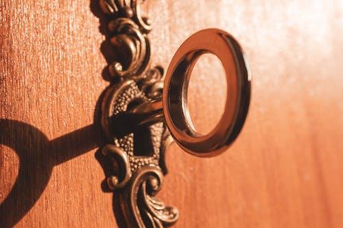 Free stock photo of golden, key, vintage, vintage keyhole