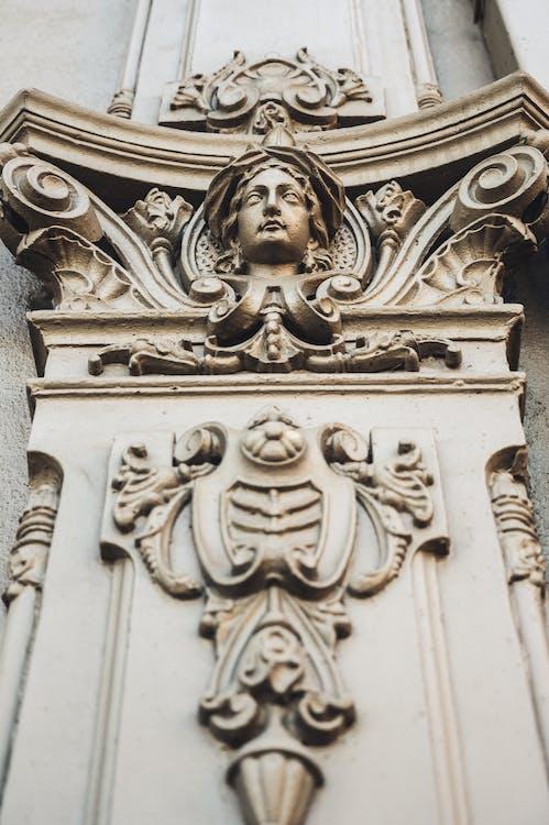 Антикварный, архитектура, вырезанный