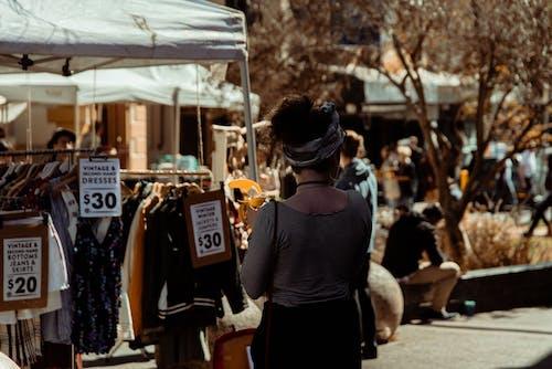 Immagine gratuita di banana, mercato, persone