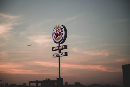Photos gratuites de avion, burger, burger king, ciel
